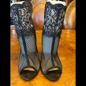 Chinese Laundry Jeopardy Mesh open toe booties